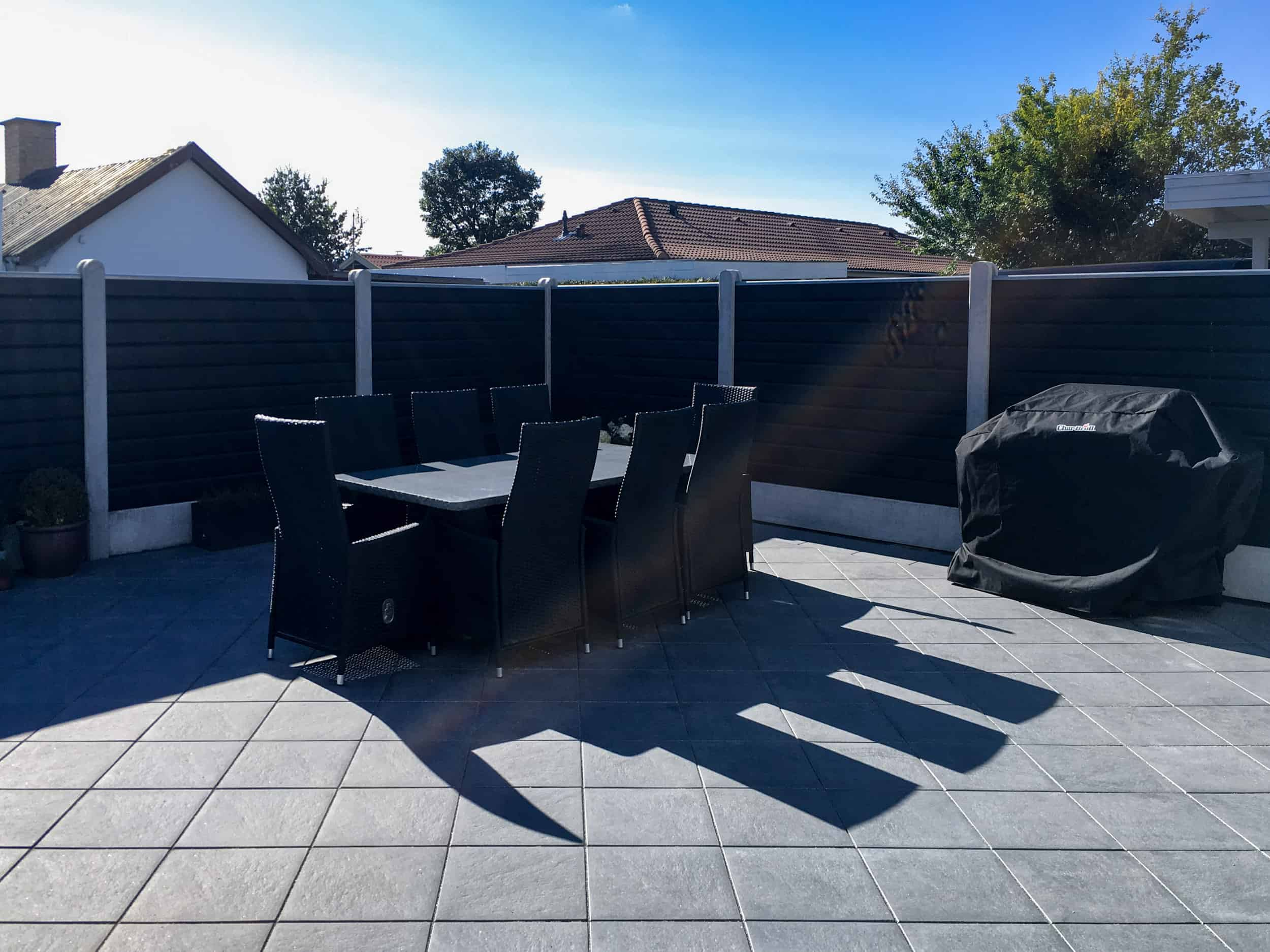 Xl Fence Wood Black Paint Doubleclink In A Garden Xl Fence Future Fencing